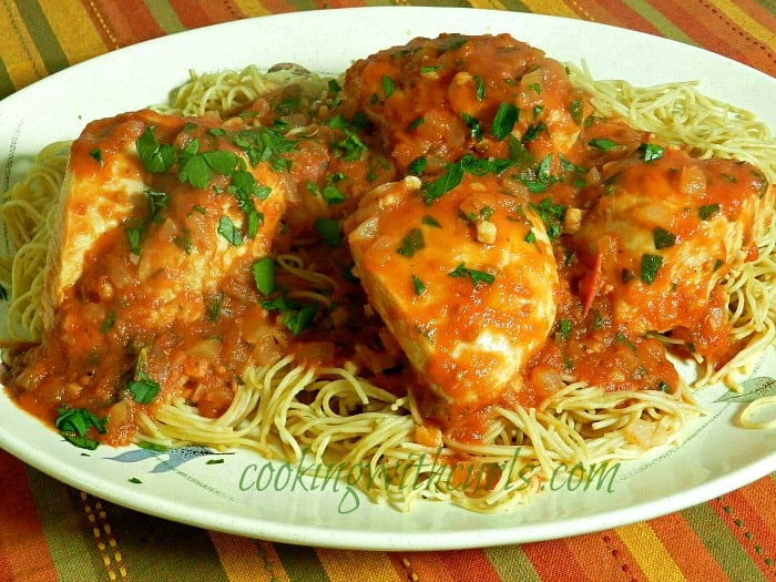 Tomato Vinegar Chicken cookingwithcurls.com