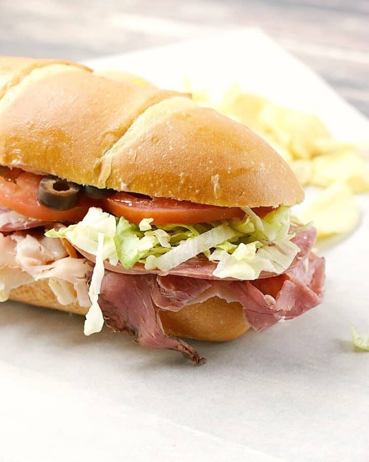 An Italian Sub Sandwich that is better than any sandwich that you will find at a sandwich shop in town | cookingwithcurls.com