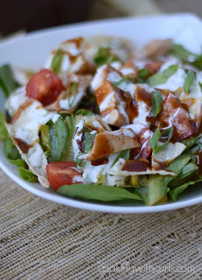 Barbecue Chicken Salad | cookingwithcurls.com