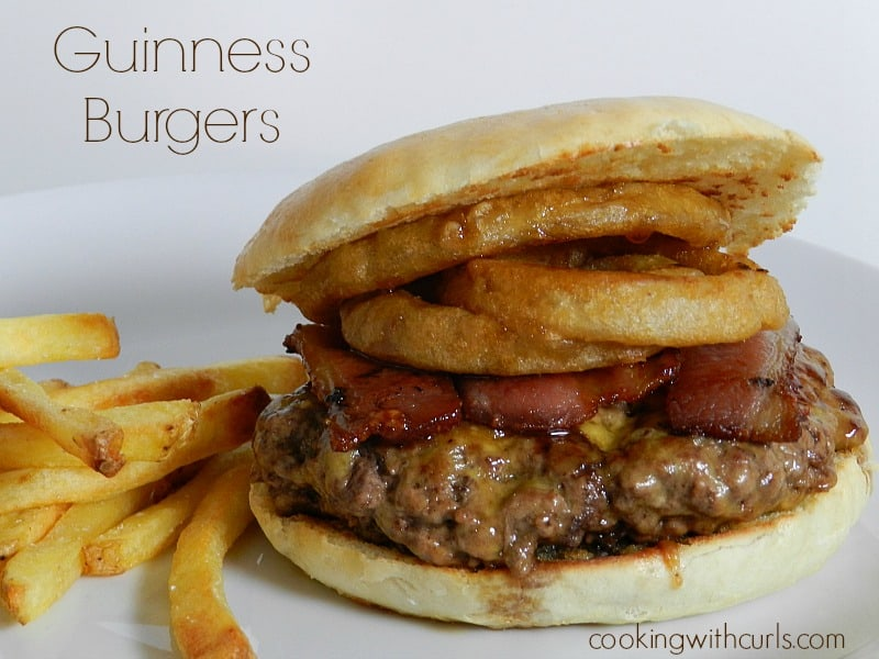 Guinness Burgers cookingwithcurls.com