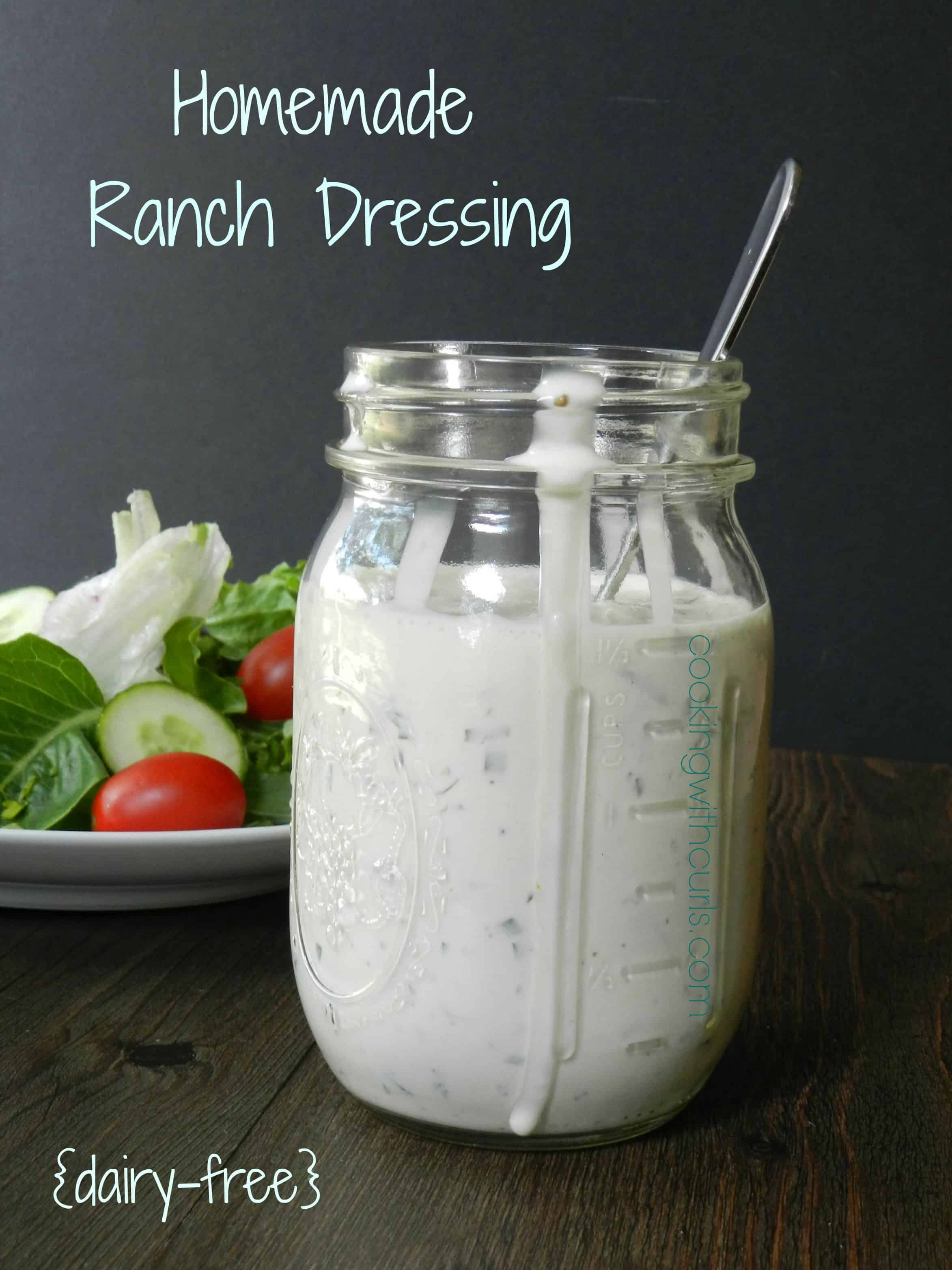 A Dairy Farm As A Technological System Teaching Practice: Homemade Ranch Dressing {dairy-free} & Substitutions