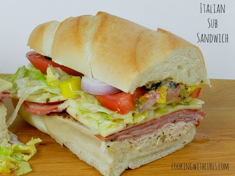 Italian Sub Sandwich cookingwithcurls.com