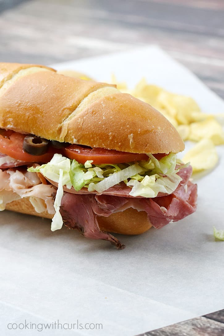 Italian Sub Sandwich | cookingwithcurls.com