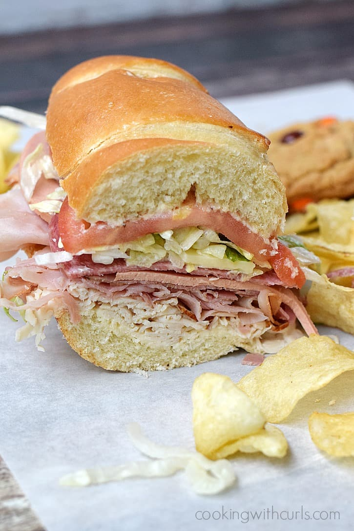 Skip Subway and make your own Italian Sub Sandwich at home | cookingwithcurls.com