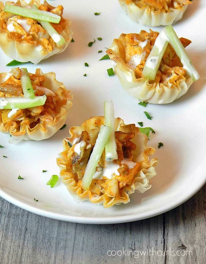 Buffalo Chicken Bites are a quick and easy appetizer! cookingwithcurls.com