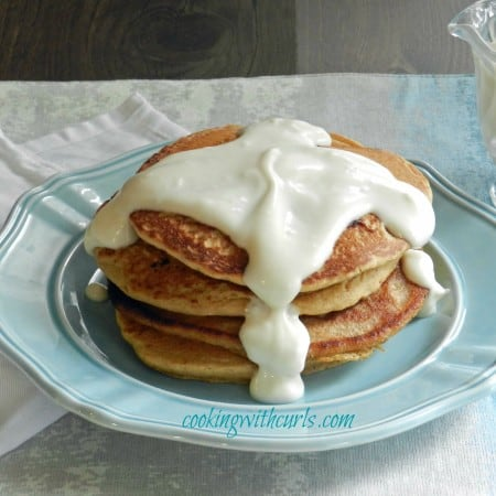 Whole-Wheat Cinnamon Roll Pancakes & a new year
