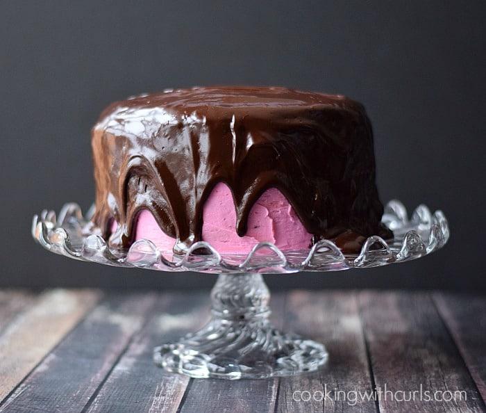 Decadent Raspberry Fudge Cake cookingwithcurls.com