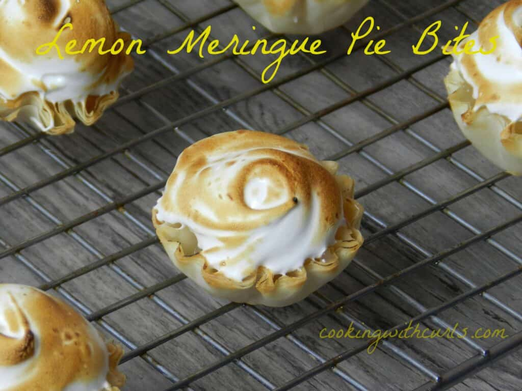 Lemon Meringue Pie Bites by cookingwithcurls.com
