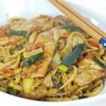 Pork Lo Mein & January thaw