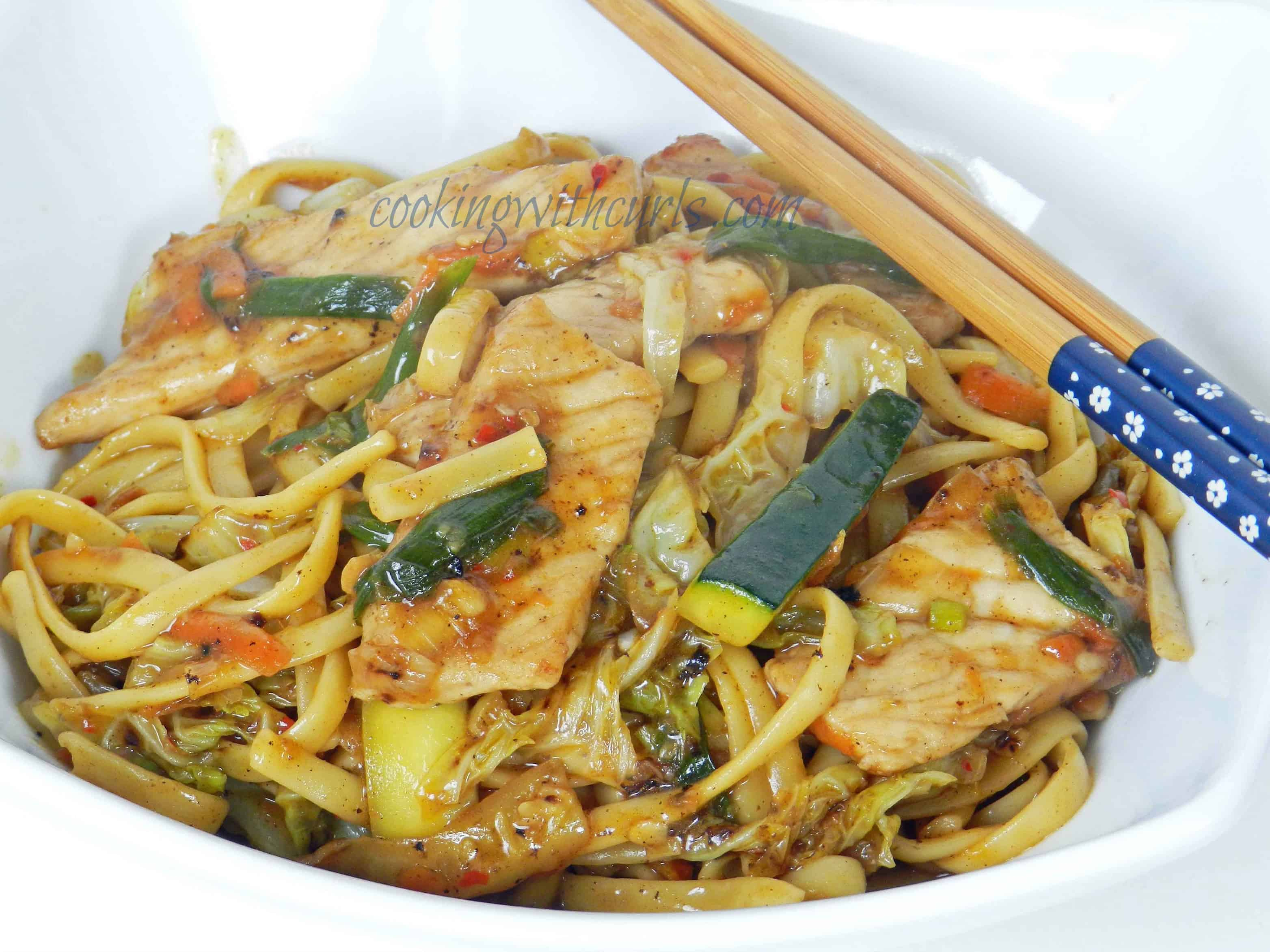 Pork Lo Mein by cookingwithcurls.com