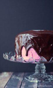 Raspberry Fudge Cake