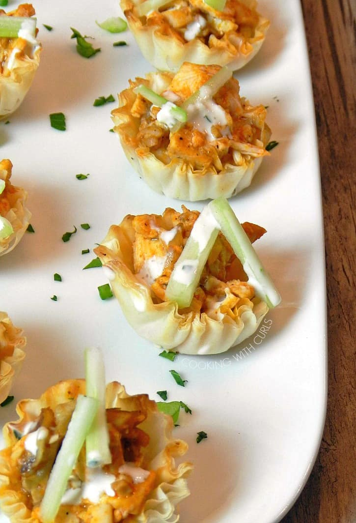 These Buffalo Chicken Bites are ready in 15 minutes and only have 5 ingredients! cookingwithcurls