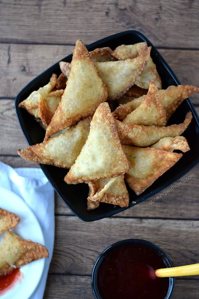 Crab Rangoons {dairy-free}  cookingwithcurls.com