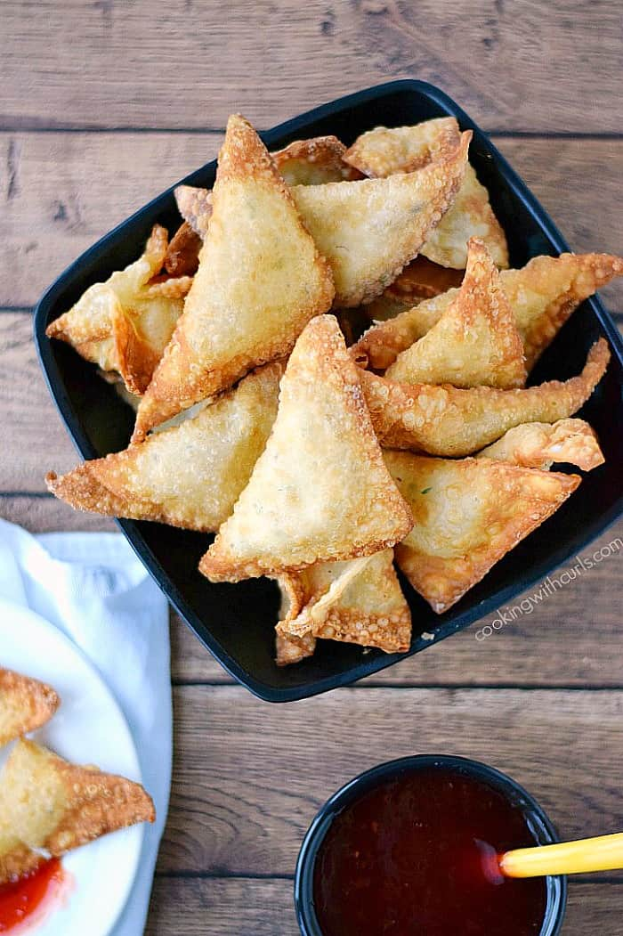 Crispy and delicious Crab Rangoons {dairy-free} cookingwithcurls.com