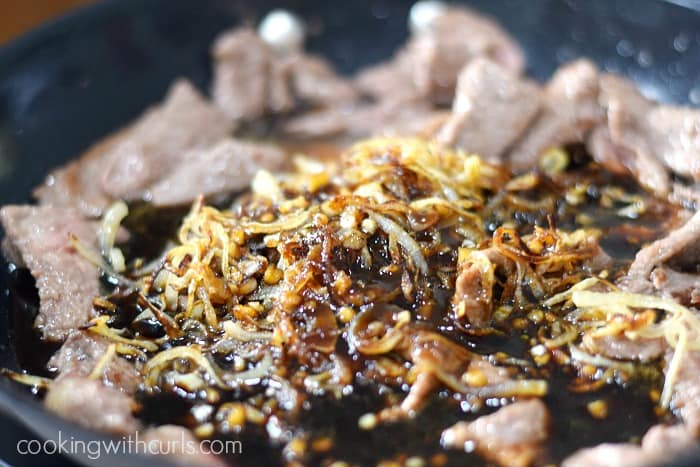 Mongolian Beef toss cookingwithcurls.com