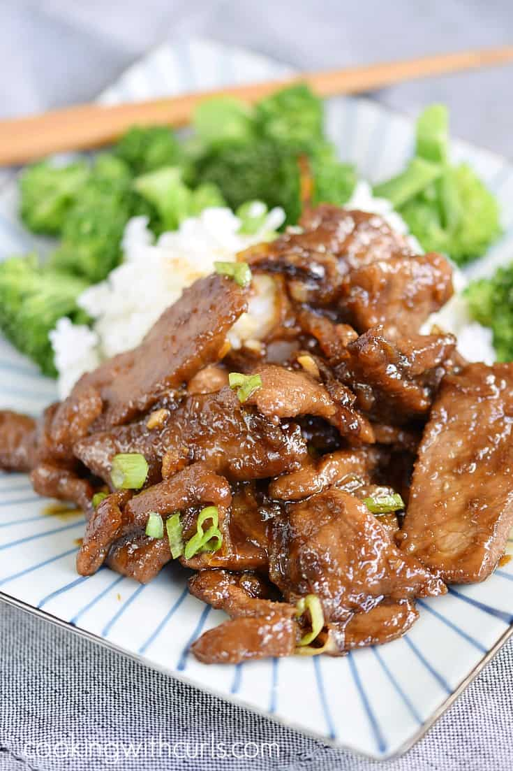 Once you try my version of Mongolian Beef, you will never order take-out again | cookingwithcurls.com