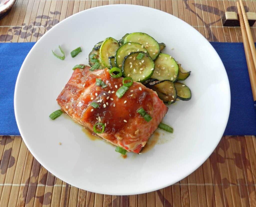Teriyaki Salmon cookingwithcurls.com