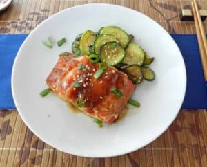 Teriyaki Salmon cookingwithcurls.com