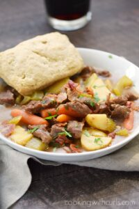Beef Stew with Guinness Biscuits