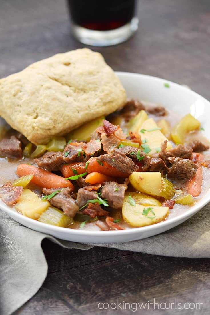 Beef Stew with Guinness Biscuits | cookingwithcurls.com