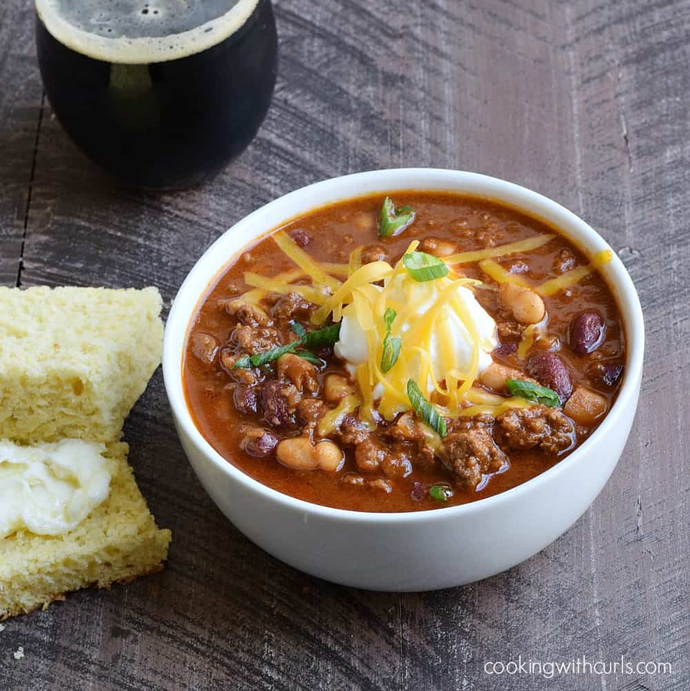 Guinness Chili | cookingwithcurls.com