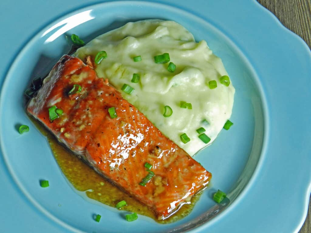 guinness glazed salmon cooking with curls. Black Bedroom Furniture Sets. Home Design Ideas