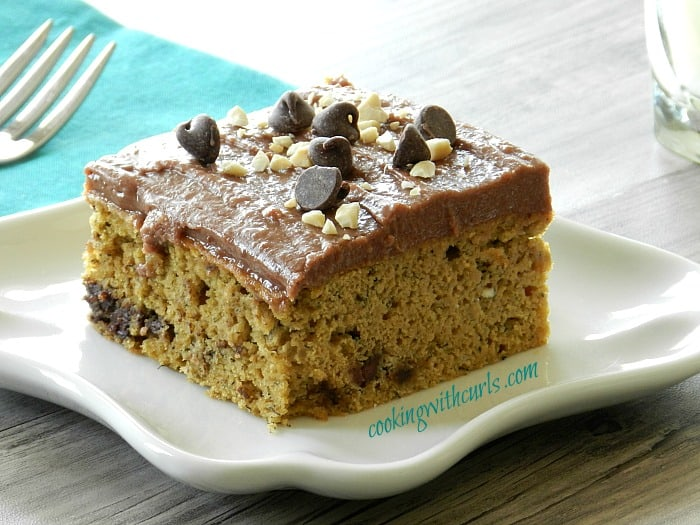 Banana Chocolate Chip Cake with Chocolate Peanut Butter Frosting ...