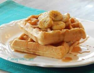 Bananas Foster Waffles WM2