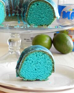 Blue Kamikaze Cocktail Cake