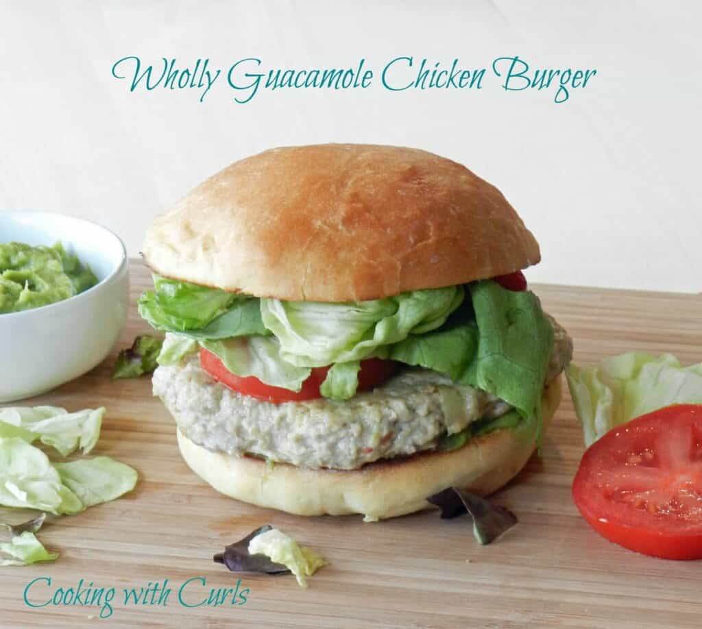 Wholly Guacamole Chicken Burgers by cookingwithcurls.com