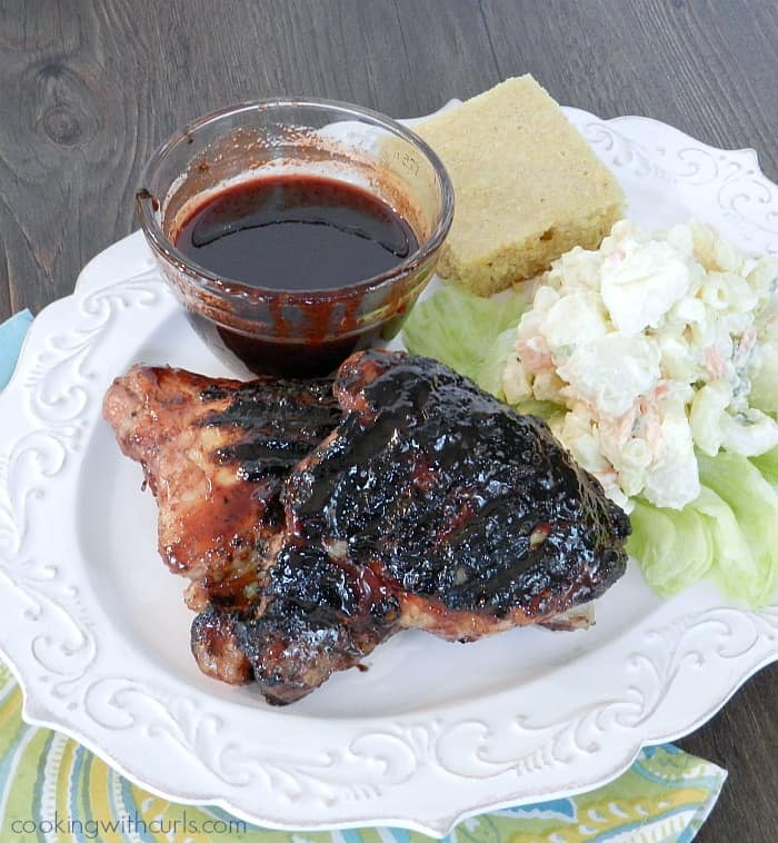 Cherry Chipotle Barbecue Chicken | cookingwithcurls.com