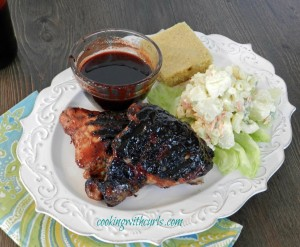 Cherry Chipotle Barbecue Chicken cookingwithcurls