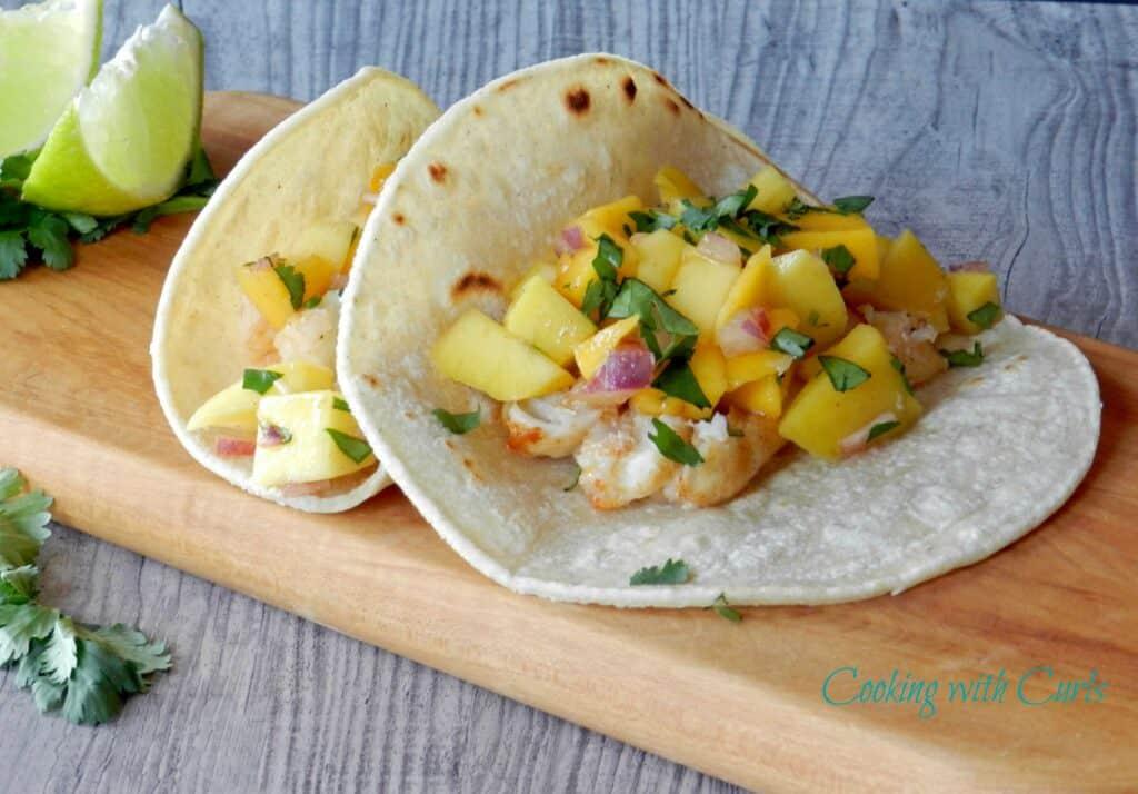 Fish tacos with papaya mango salsa cinco de mayo for Fish taco salsa