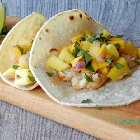 Fish Tacos with Papaya Mango Salsa & cinco de mayo