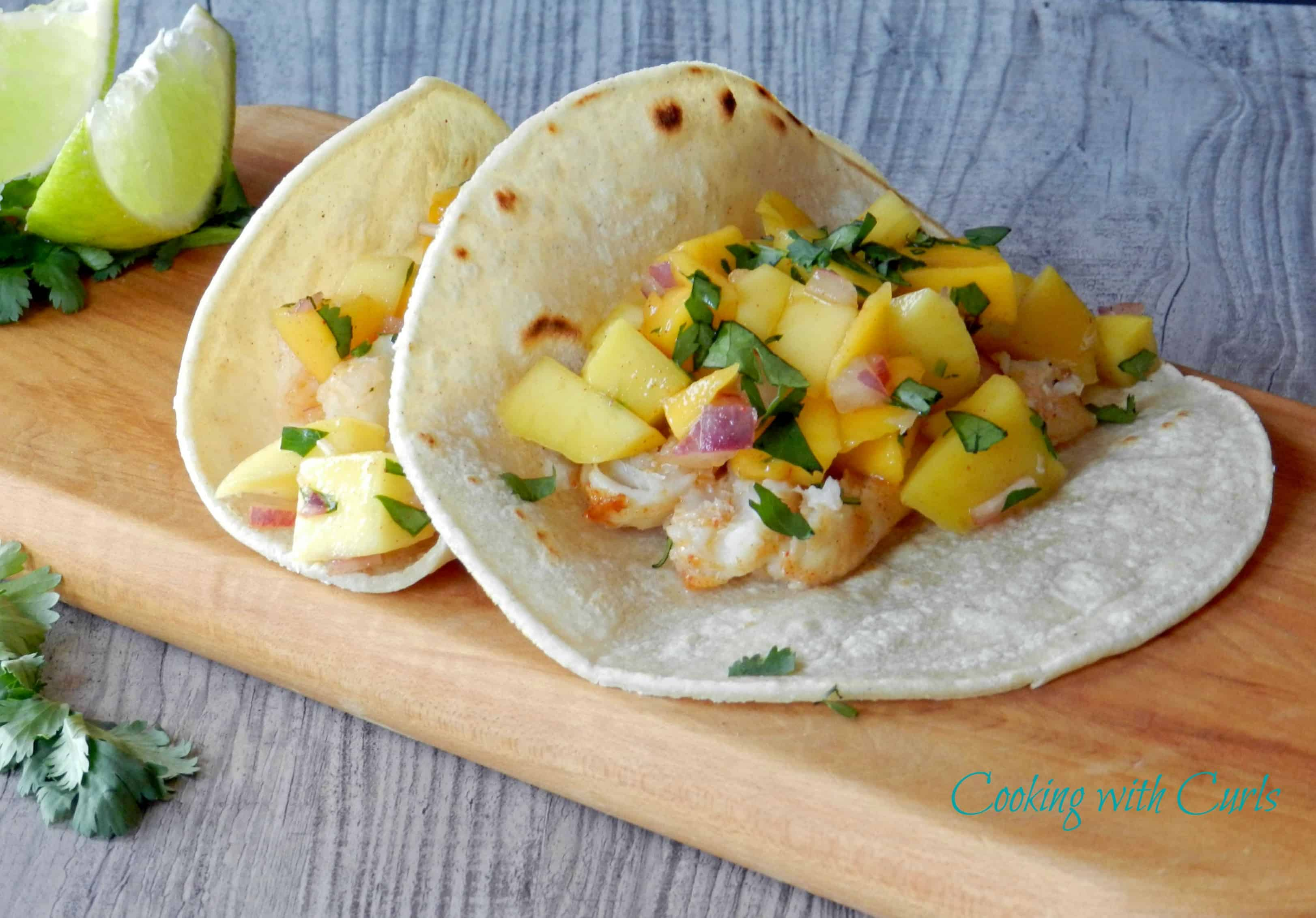 Fish tacos with papaya mango salsa cinco de mayo for Mango salsa recipe for fish