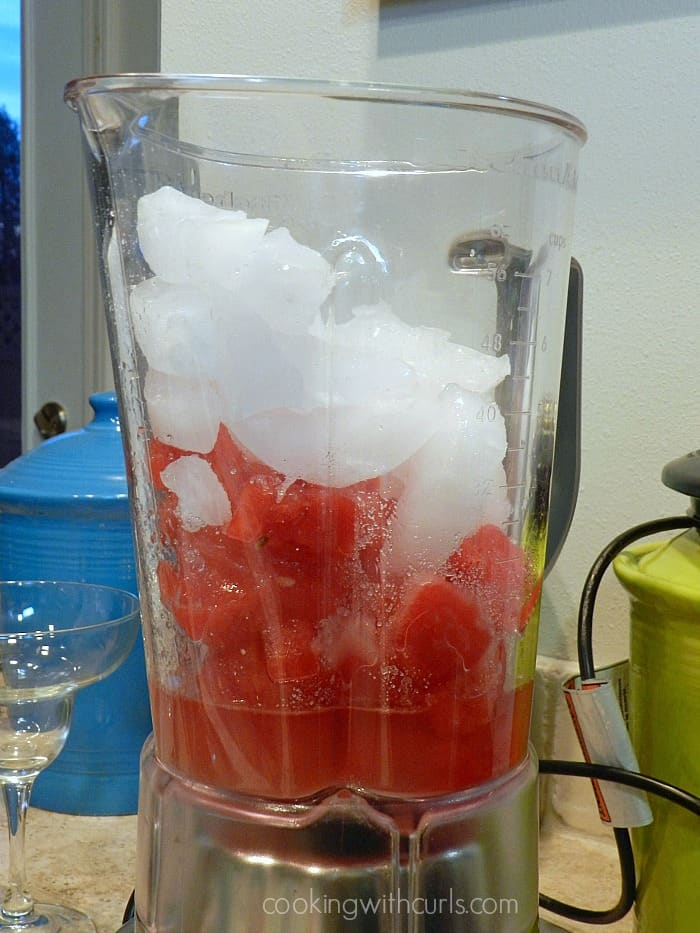 Frozen Watermelon Margarita blender cookingwithcurls.com