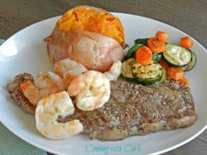 Grilled Steak & Shrimp