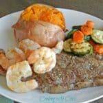 Grilled Steak & Shrimp & nice weather