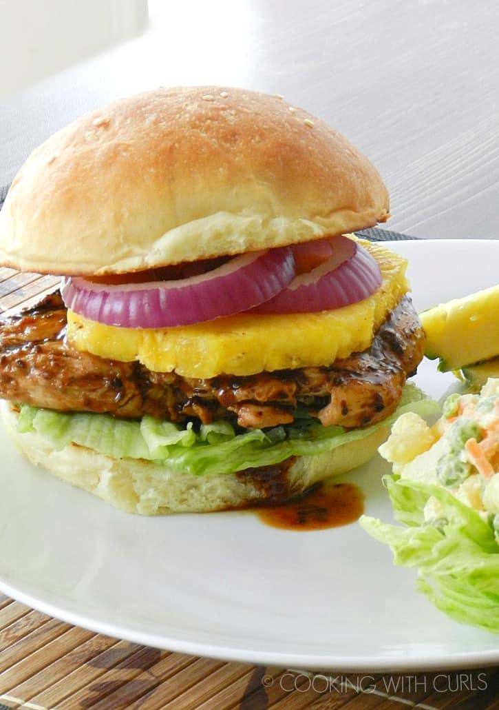 Grilled Teriyaki Chicken Sandwich with Hawaiian Potato Salad cookingwithcurls.com