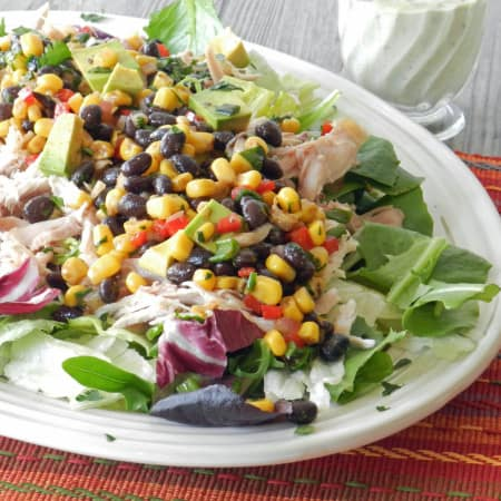 Southwest Chicken Salad with Guacamole Ranch