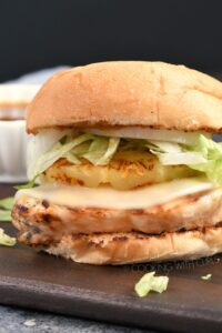 These Grilled Teriyaki Chicken Sandwiches are the perfect tropical pick me up any time of the year! cookingwithcurls.com