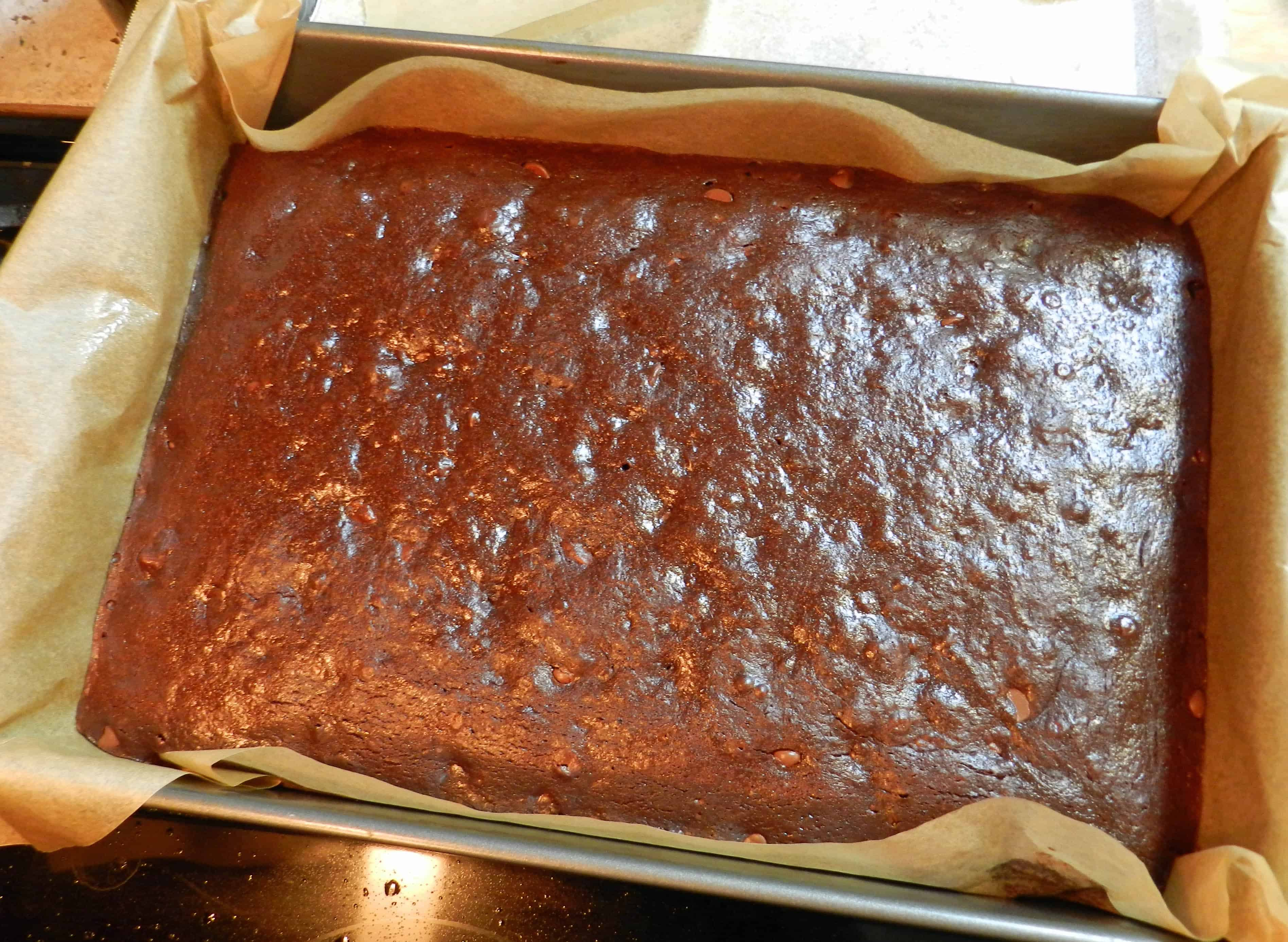 Turtle Sourdough Brownies Baked