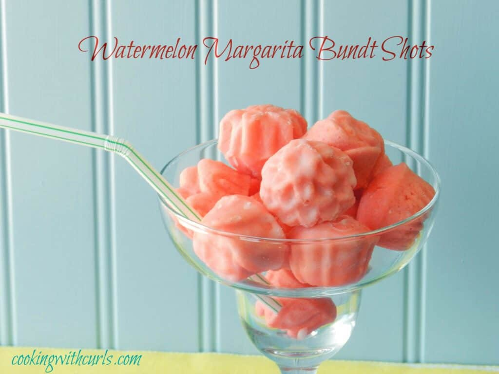 Watermelon Margarita Bundt Shots WM