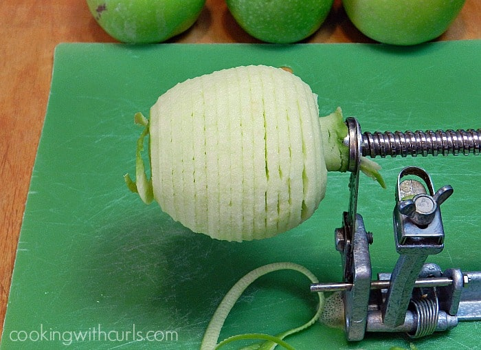 Apple Crisp peel cookingwithcurls.com