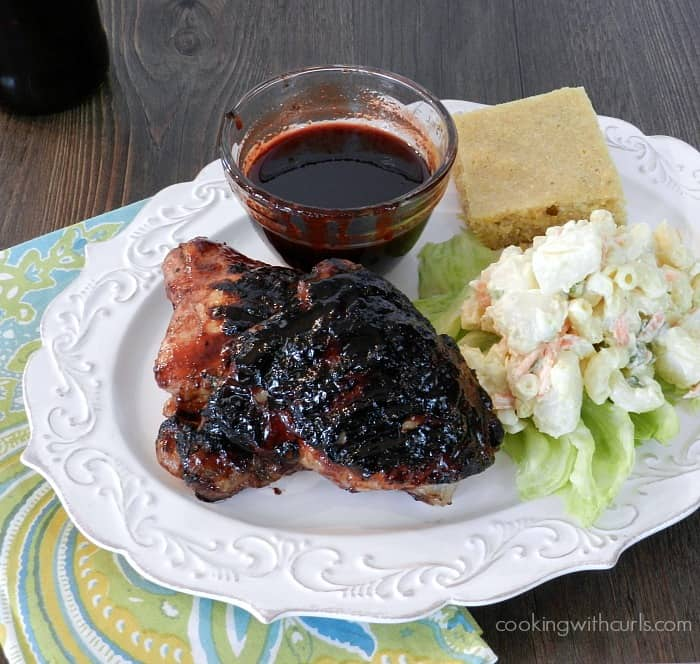 Cherry Chipotle Barbecue Chicken cookingwithcurls.com
