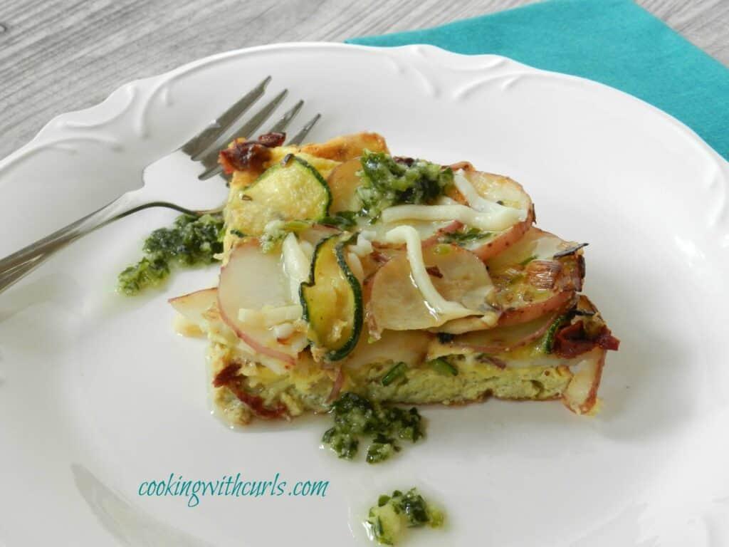 Italian Frittata cookingwithcurls WM