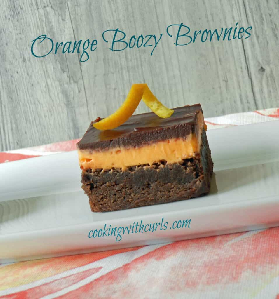Orange Boozy Brownies Tilted cookingwithcurls.com
