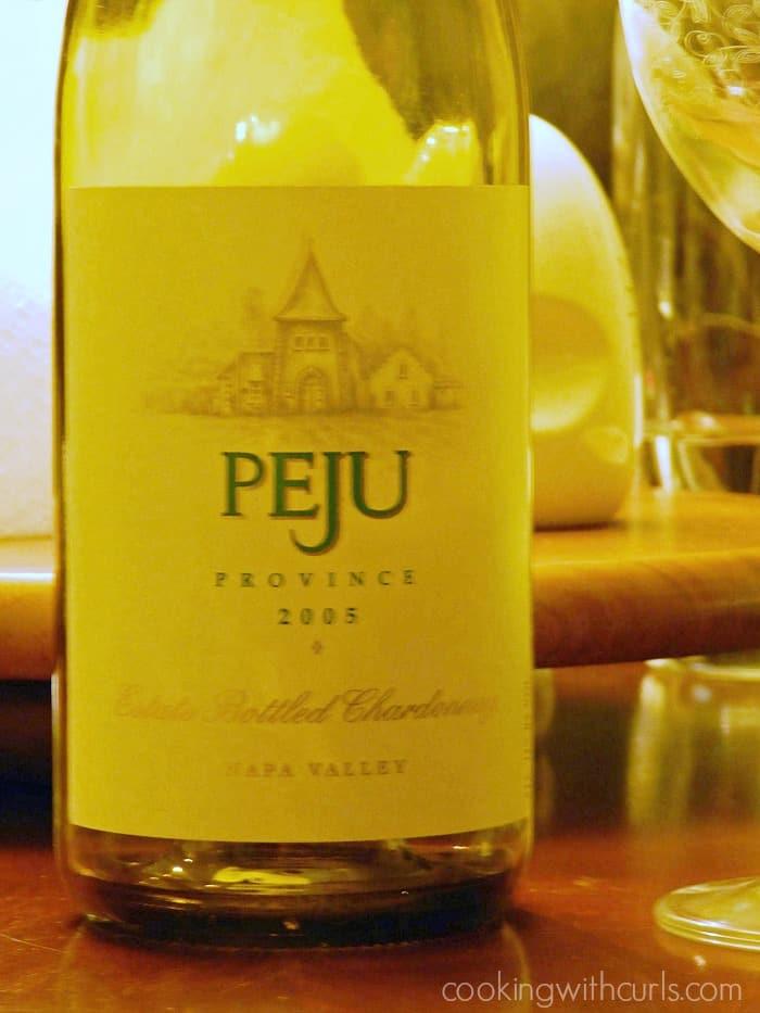 a bottle of Peju Chardonnay 2005