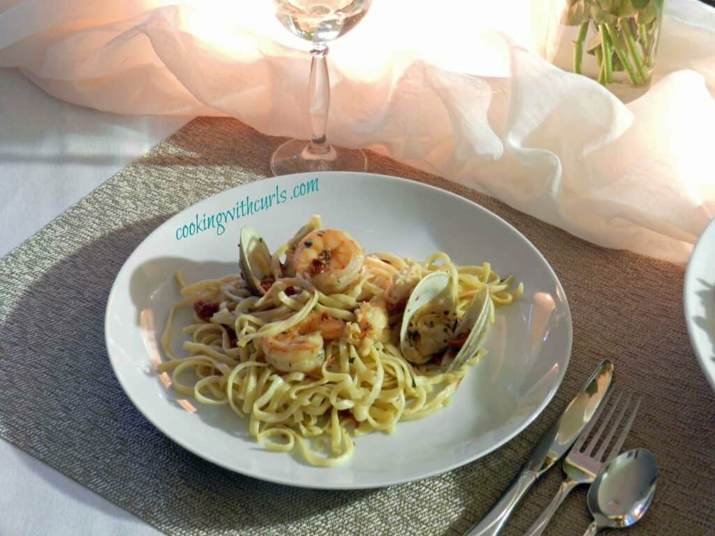 Seafood Pasta Plate cookingwithcurls WM