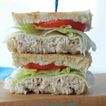 Tuna on Grilled Sourdough & sunshine